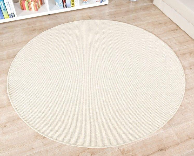 Teppich rund creme  Sisal Teppich Trumpf weiß rund Teppiche Hersteller Havatex ...