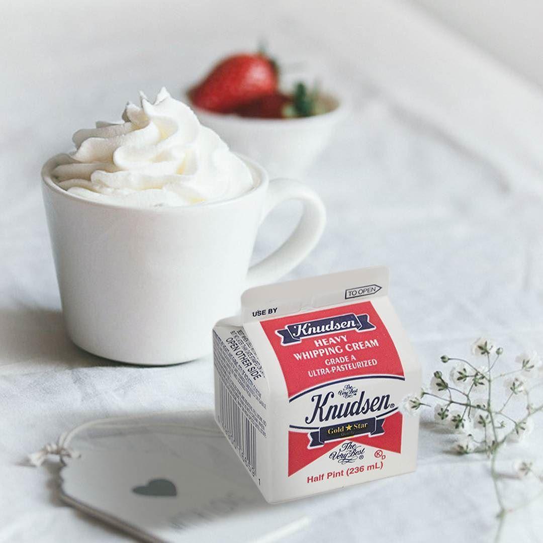 كنودسين كريمة خفق فائقة البسترة ومتجانسة متوفرة في ثلاجات ألبان سيفكو في سيفكو Knudsen Whipping Cream Is Ultra Pasteurized A Instagram Posts Cream Tableware
