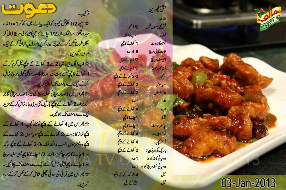 Chef Zakir Fish Manchurian recipe in urdu | Chef Zakir ...