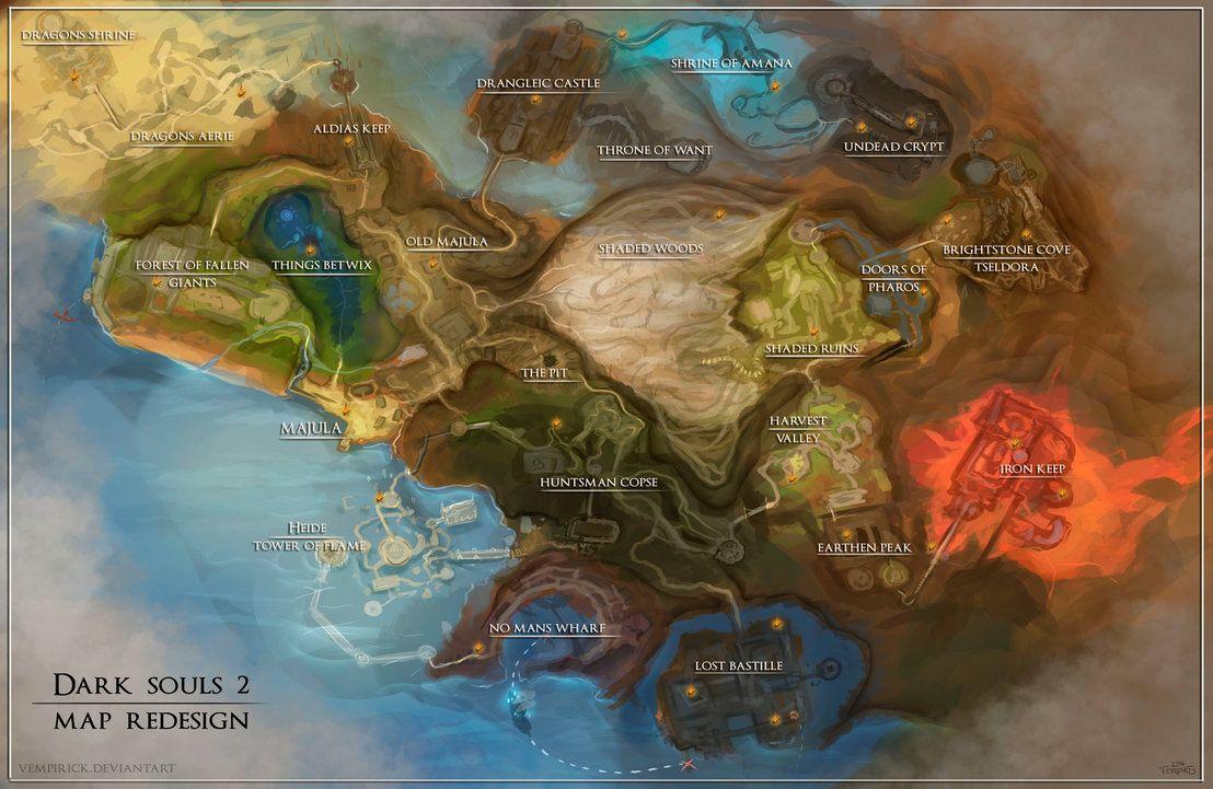 Mapa Dark Souls 2.Dark Souls 2 Map Redesign By Vempirick Dark Souls