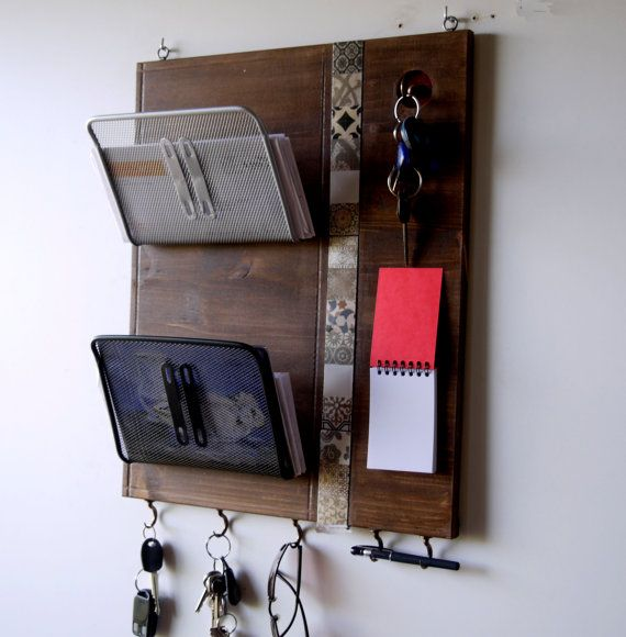Mail Organizer. Office Wall Holder. Entryway By FineArtHolders