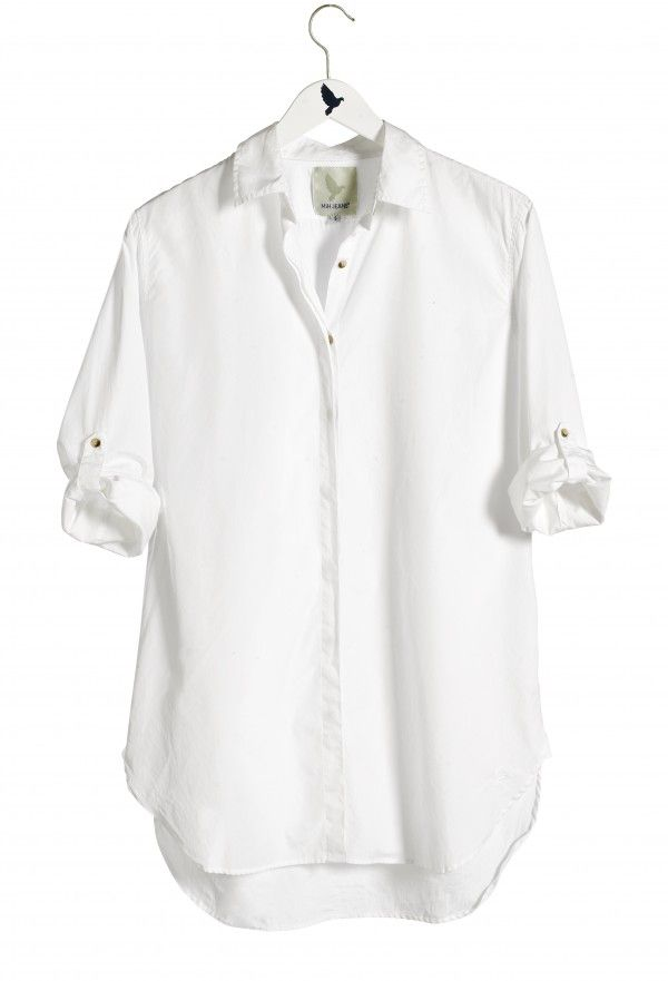 c8e332de The OVERSIZE SHIRT - Womens shirt - EXTRA LONG SHIRT - Polo White - MiH