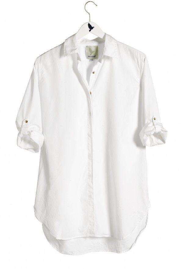 The OVERSIZE SHIRT - Womens shirt - EXTRA LONG SHIRT - Polo White ...