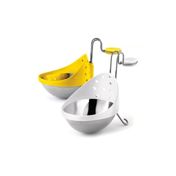 Cuisipro Egg Poacher Set of 2 - White and Yellow
