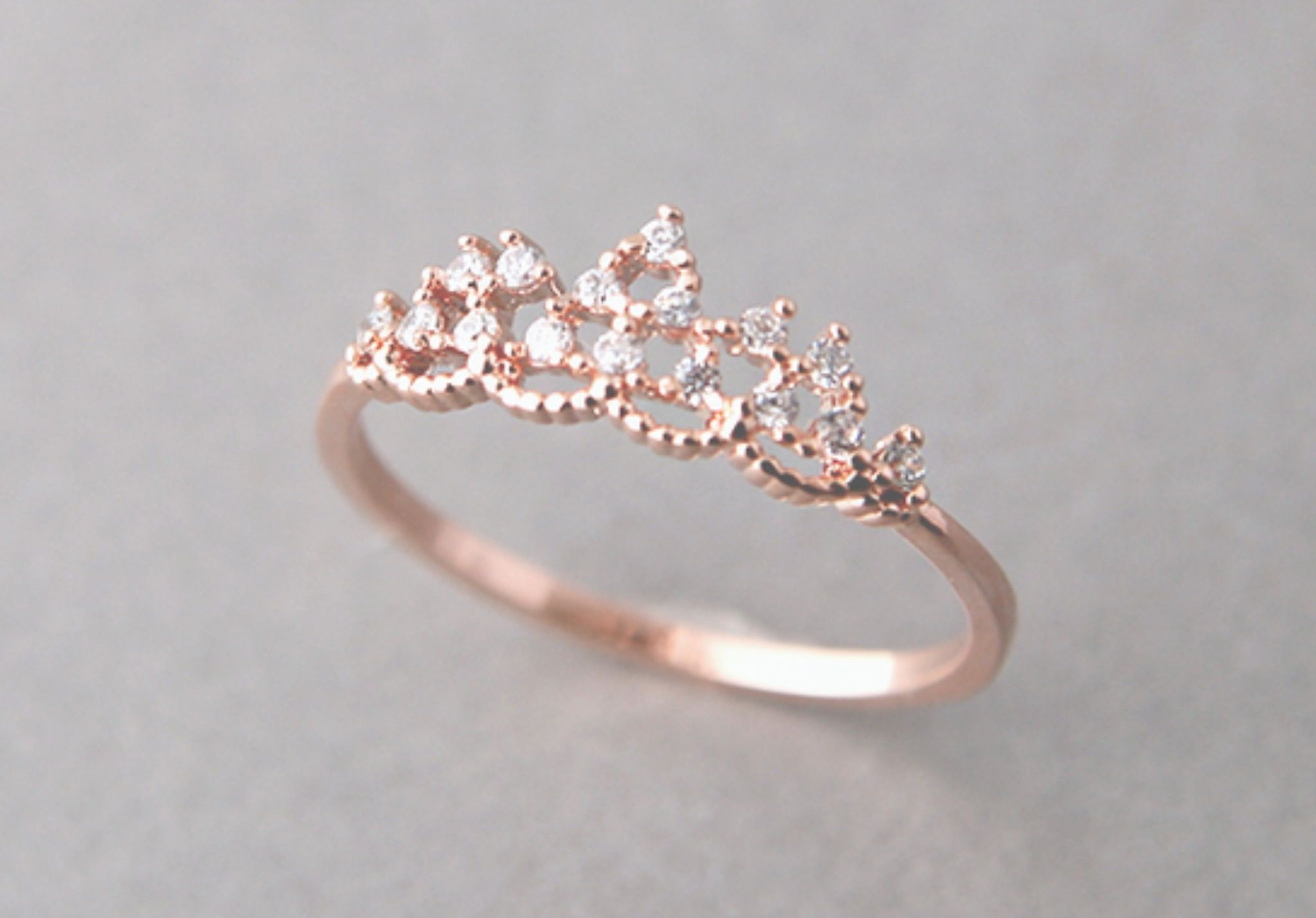 46c841db4 Rose Gold Ring | J E W E L R Y | Jewelry, Princess tiara ring, Tiara ...