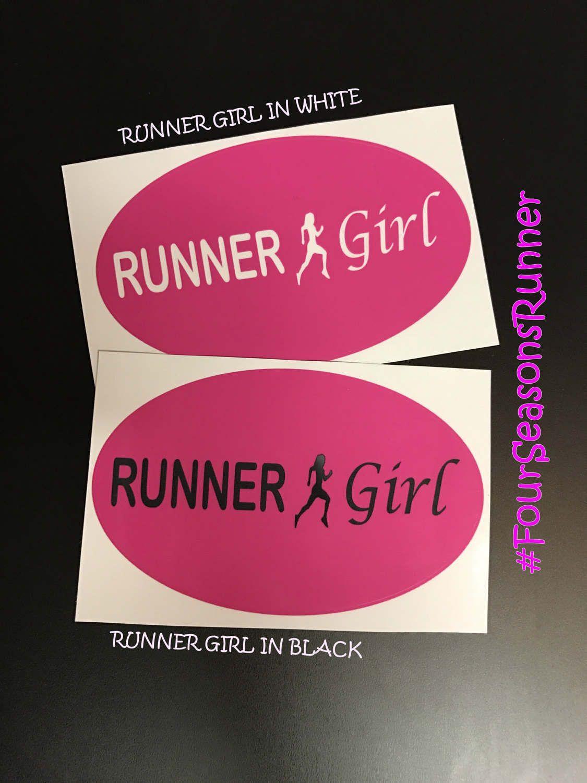 Bumper sticker design ideas - Pink Runner Girl Window Decal Sticker Bumper Sticker Runner Girl Sticker Runner Girl