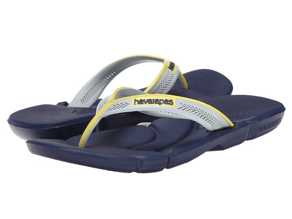Men's Havaianas Power Flip Flops Navy Blue/Navy Blue Sandals (Bl
