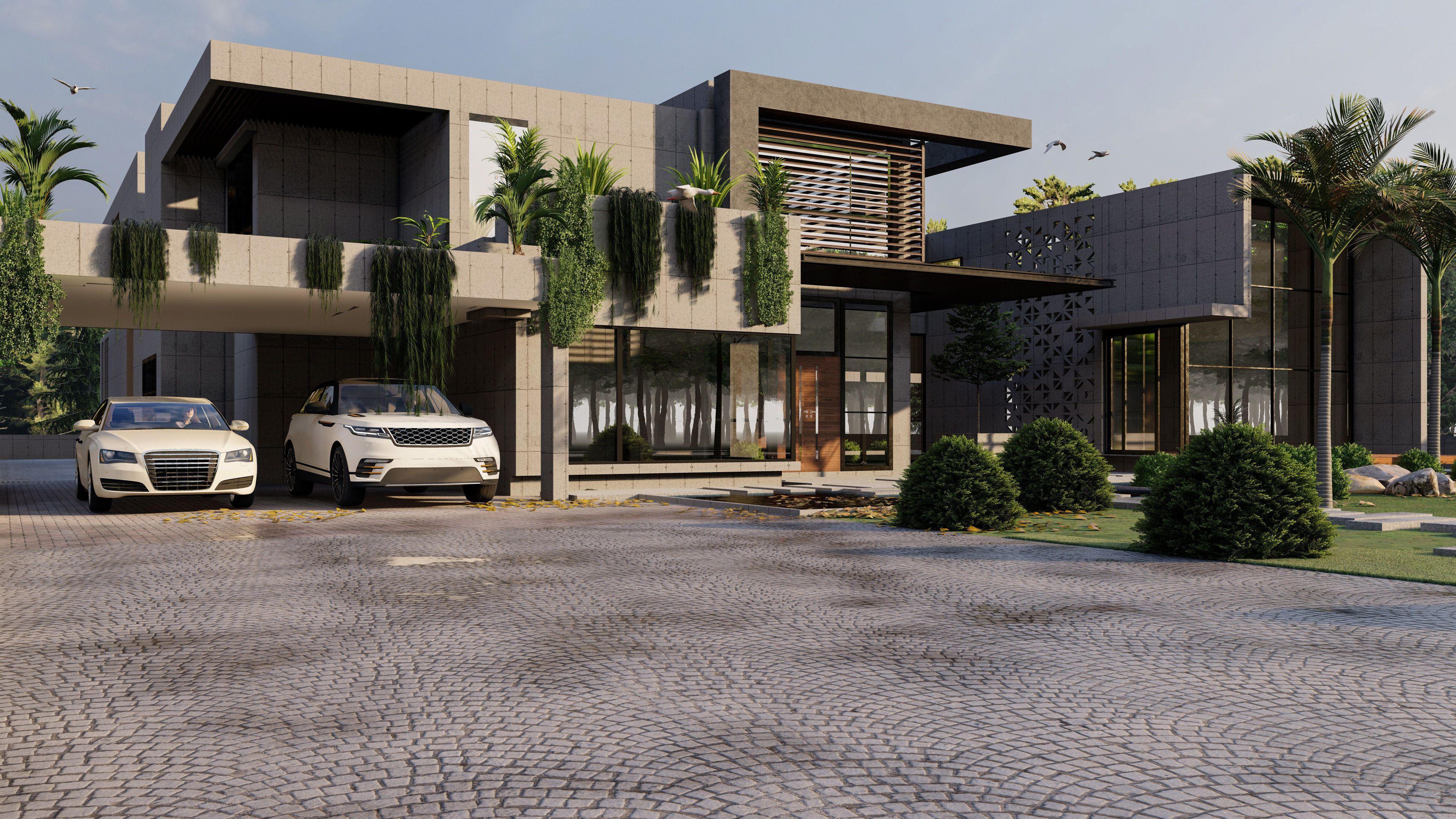 Modern Luxury House Model And Render Modern House 3d House Designs Exterior Luxury House House Design