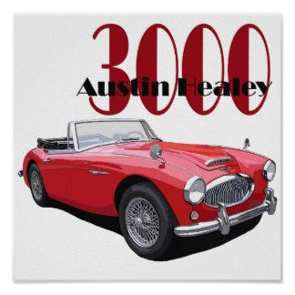 Austin Healey 3000 Posters