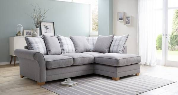 Gentil Elliott Plain Left Hand Facing Arm Pillow Back Corner Sofa Arran | DFS