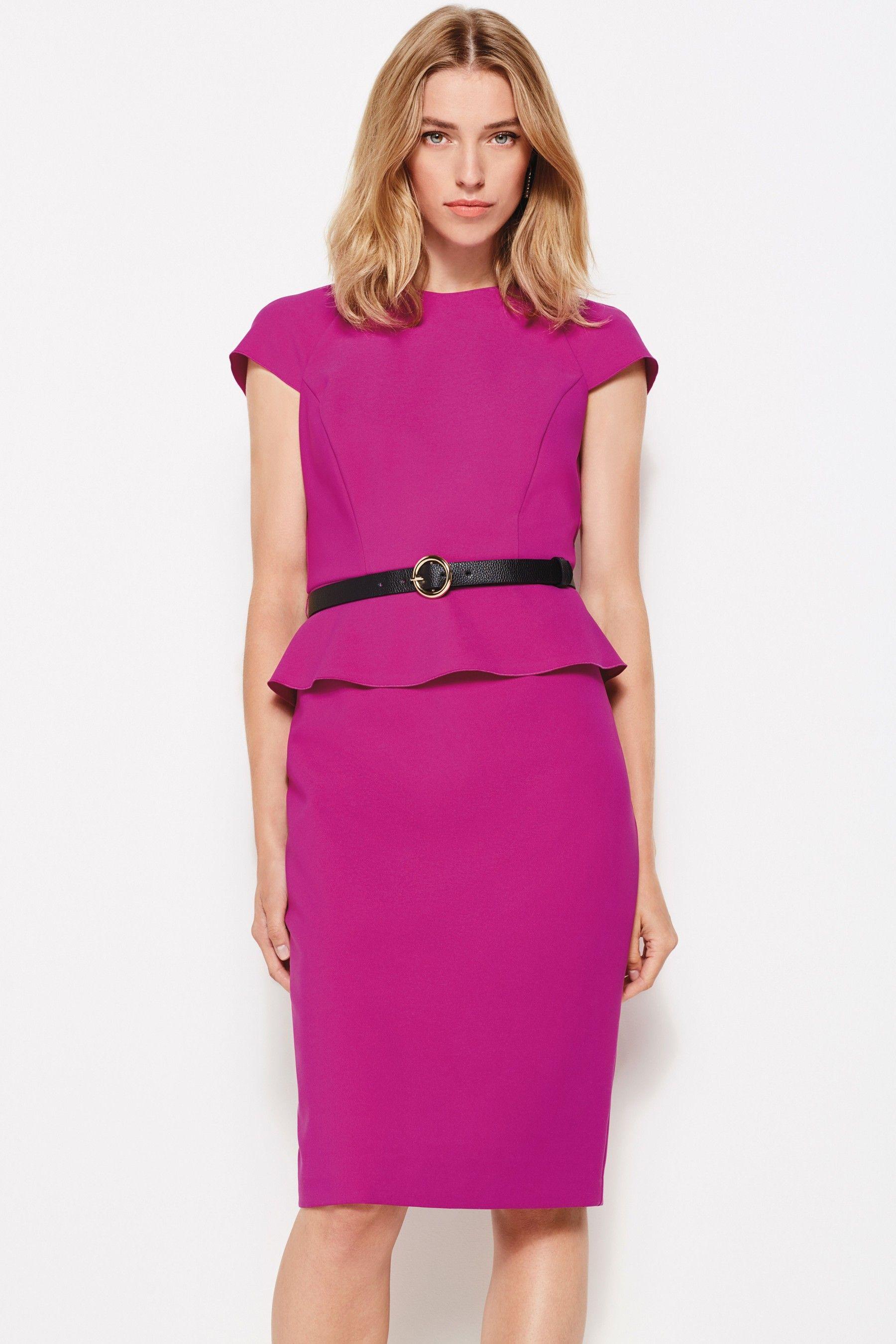 Womens Phase Eight Purple Milla Belted Peplum Dress Purple Peplum Dress Dresses