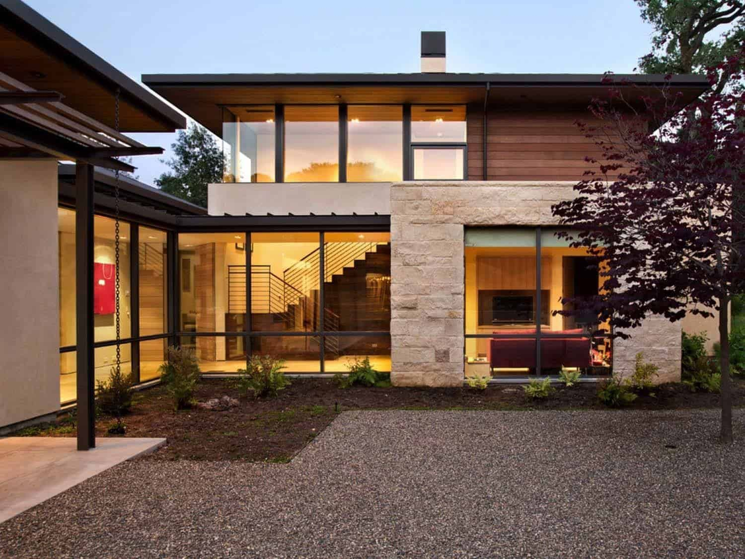 A Woodside Home Designed In Perfect Harmony With Nature Architecture Facade House Architecture House
