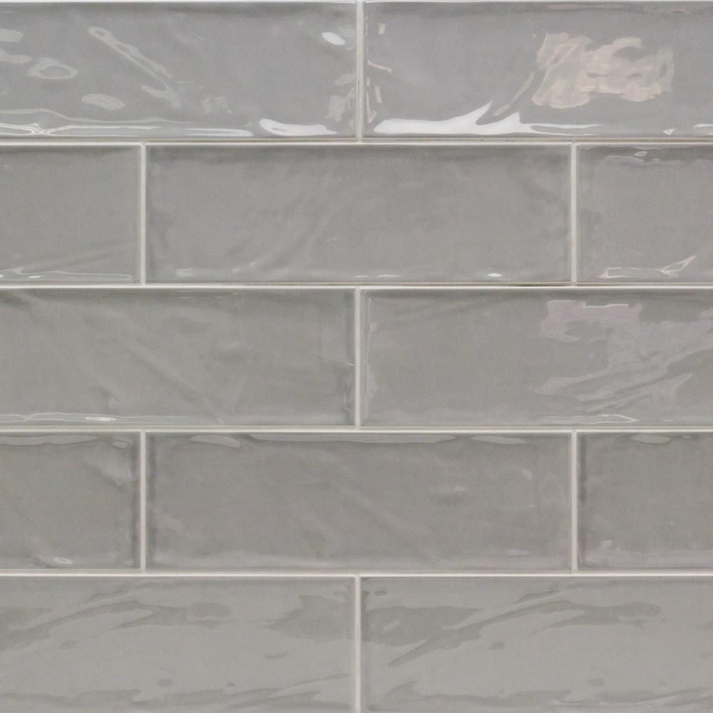 Ivy Hill Tile Pier Gray 4 In X 12 In 6 Mm Polished Ceramic Subway Wall Tile Ceramic Subway Tile Subway Tile Backsplash Kitchen Glass Subway Tile Backsplash