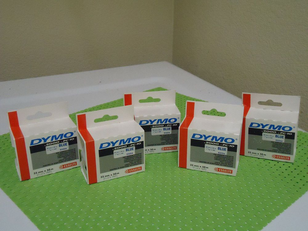 Lot Of 5 Blue Ink Ribbon Tape For Dymo 6000 0 9000 Pc 10