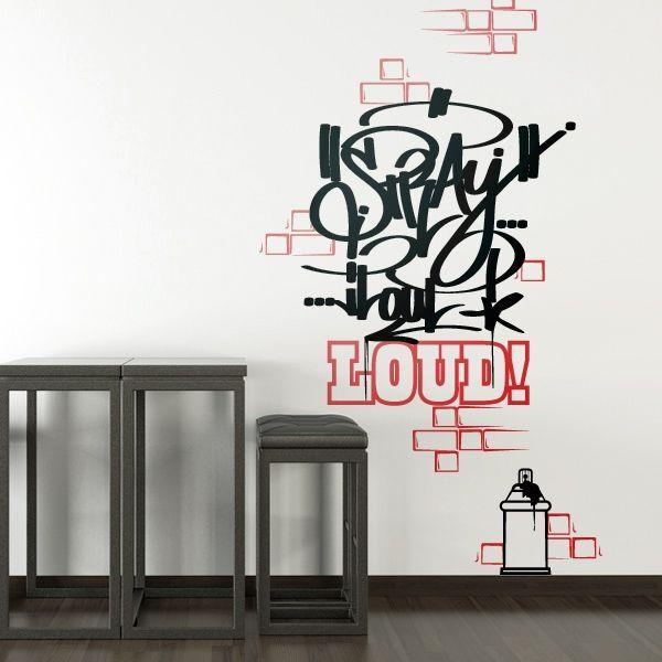 Graffiti Wandtattoo Wandsticker Wandtattoos, Walltattoo - wandtattoos für wohnzimmer