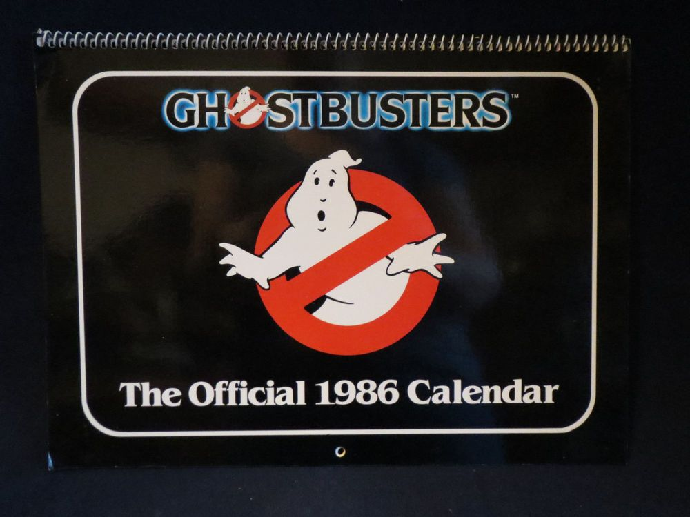 Nm 1986 Official Ghostbusters Calendar Spiral Bound Antioch Htf