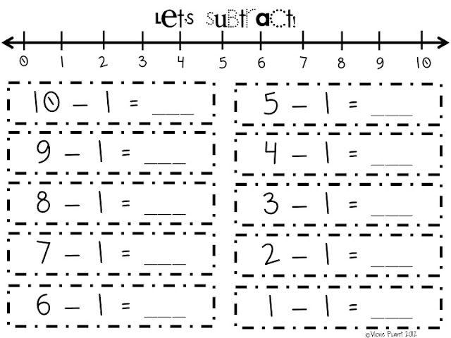 number line subtraction 10 pages free subtraction kindergarten. Black Bedroom Furniture Sets. Home Design Ideas