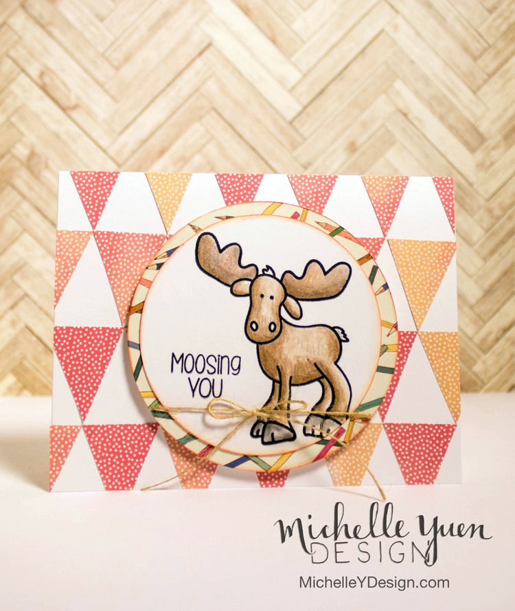 Moosing You - The Alley Way Stamps Video: Patchwork background by Michelle Yuen Design