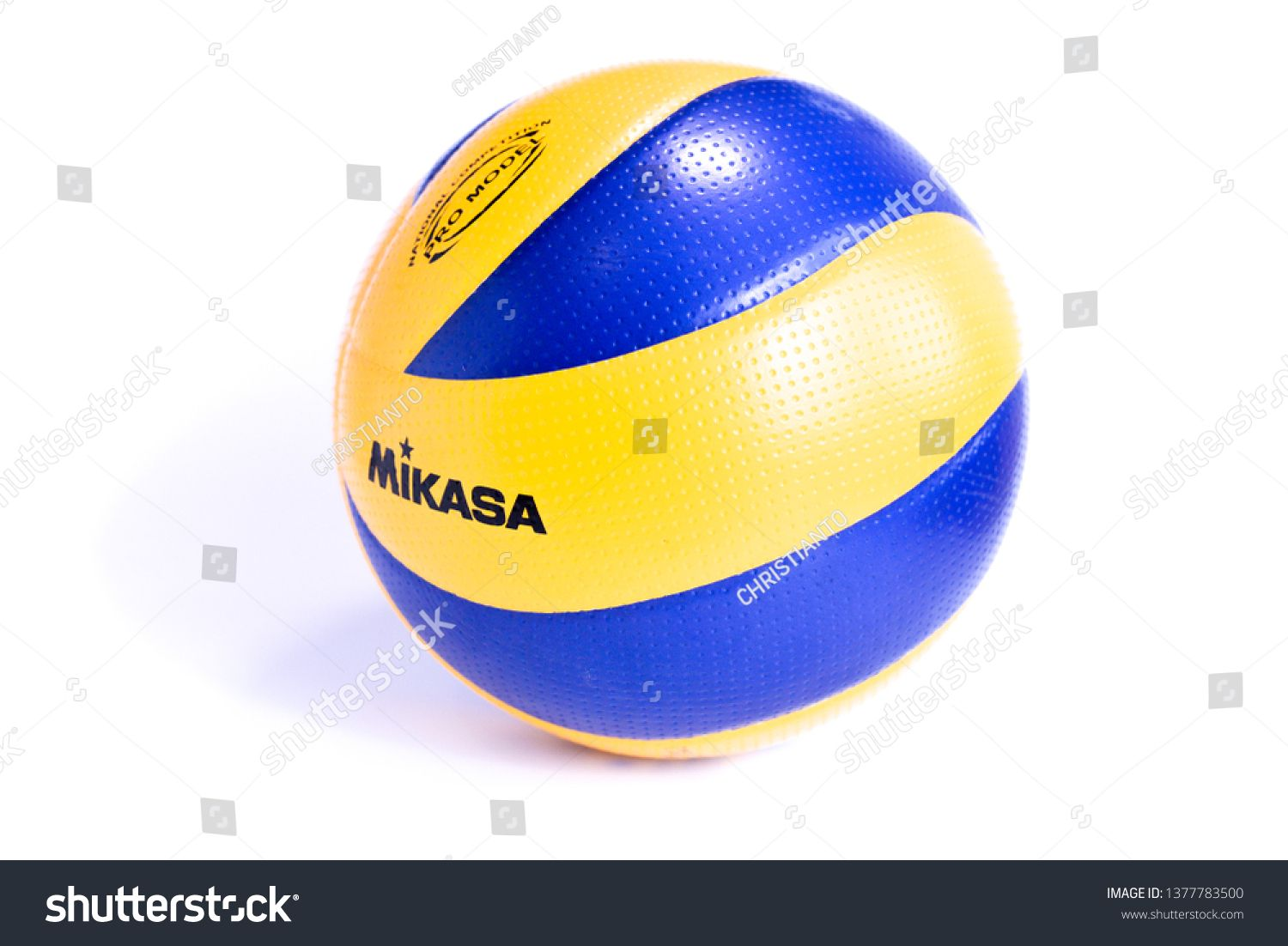 Kudat Malaysia 23 April 2019 Mikasa Indoor Volleyball Ball Isolated On White Background Mikasa Is World Top Bran Indoor Volleyball Kudat White Background