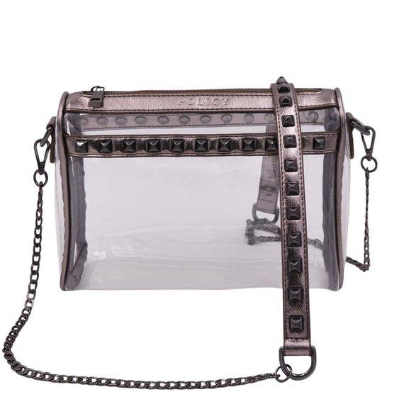 Stud Clear Handbag-Policy Handbag- Stadium Bag- NFL bag- Clear Purse- Clear  Handbags- Clear Bag-Tran  84c3b24f93939