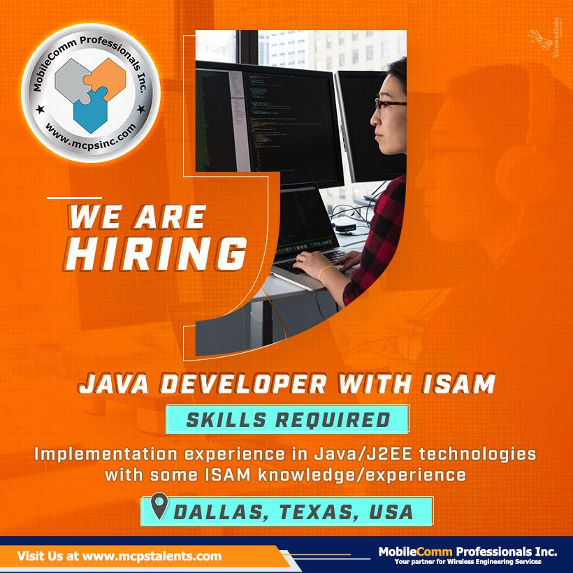 Join a Java Developer job in the TX, USA! A Java Developer