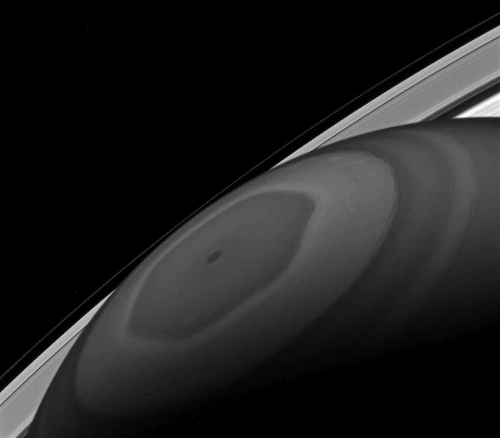 At The Center Nasa Solar System Exploration Saturn Cassini Nasa Missions