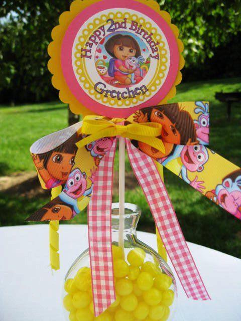 Princess Dora  centerpiece Birthday Party Decoration