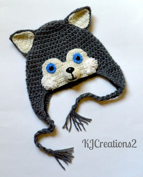 Crochet Husky ear flap Hat | hat crochet and knitting | Pinterest ...