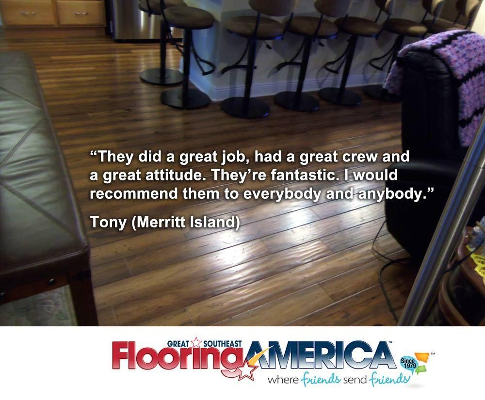 Great Southeast Flooring America Tony Meritt Island FL