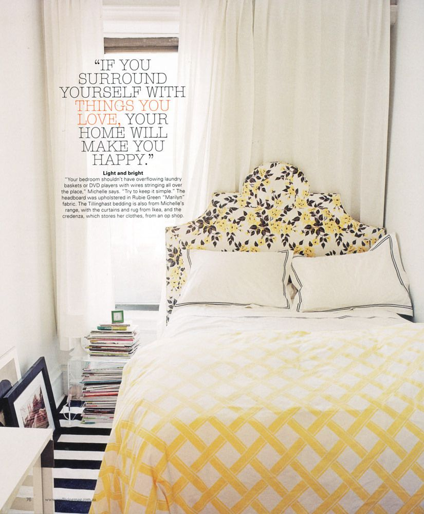 Modern Bedroom Designs In Black And Yellow Accent : Appealing Black And Yellow  Bedroom Idea With Yellow White Pattern Bed Cover And Black Yellow Leaves ...