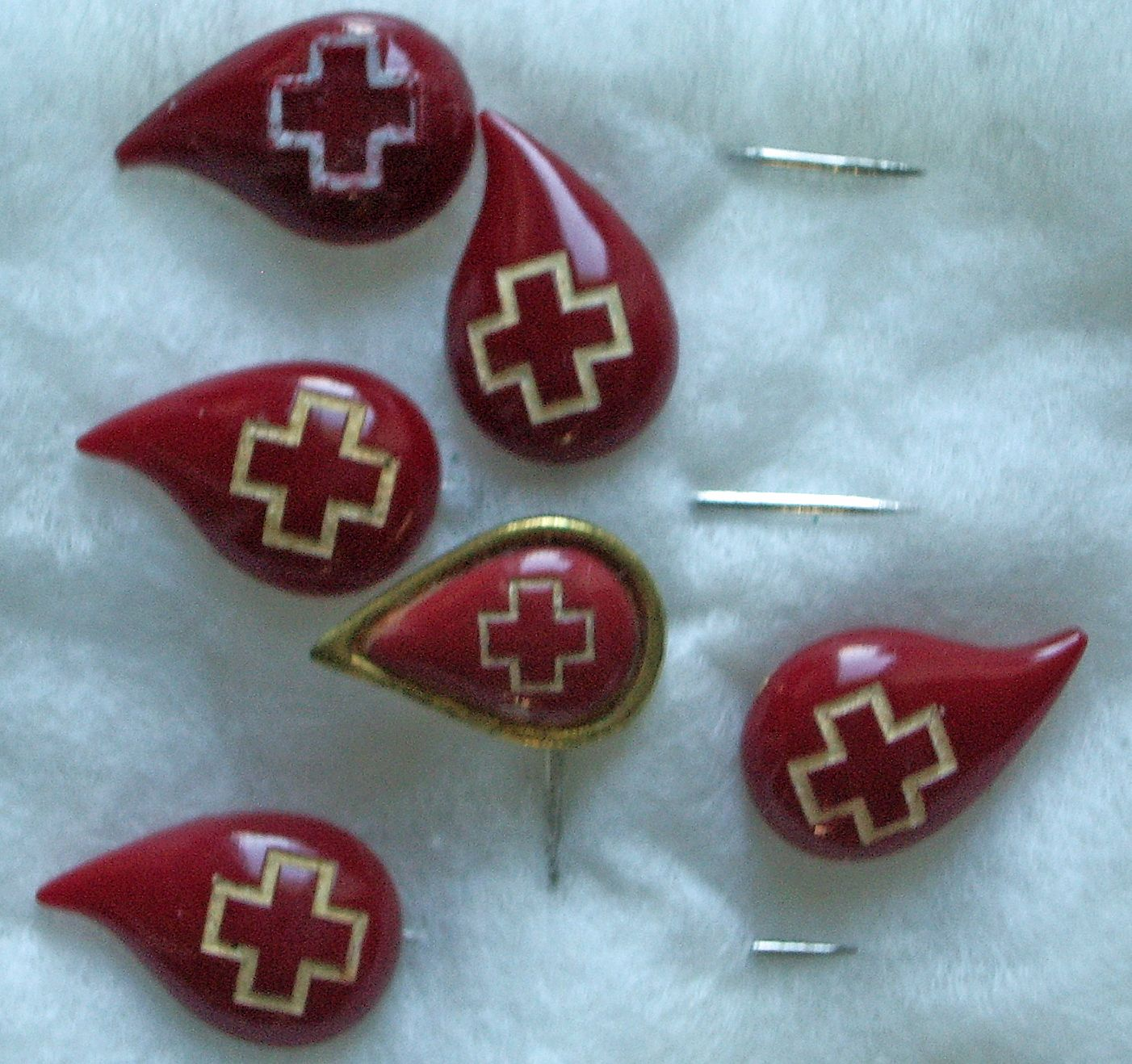 Image result for red cross donor pins