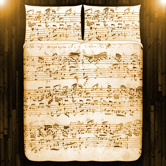 Antique Sheet Music Duvet Cover Sheet Music Blanket