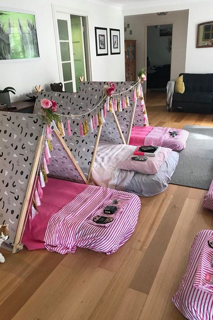 Kmart mum creates slumber party of the year