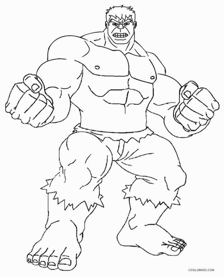 Hulk Coloring Pages With Images Hulk Coloring Pages Superhero