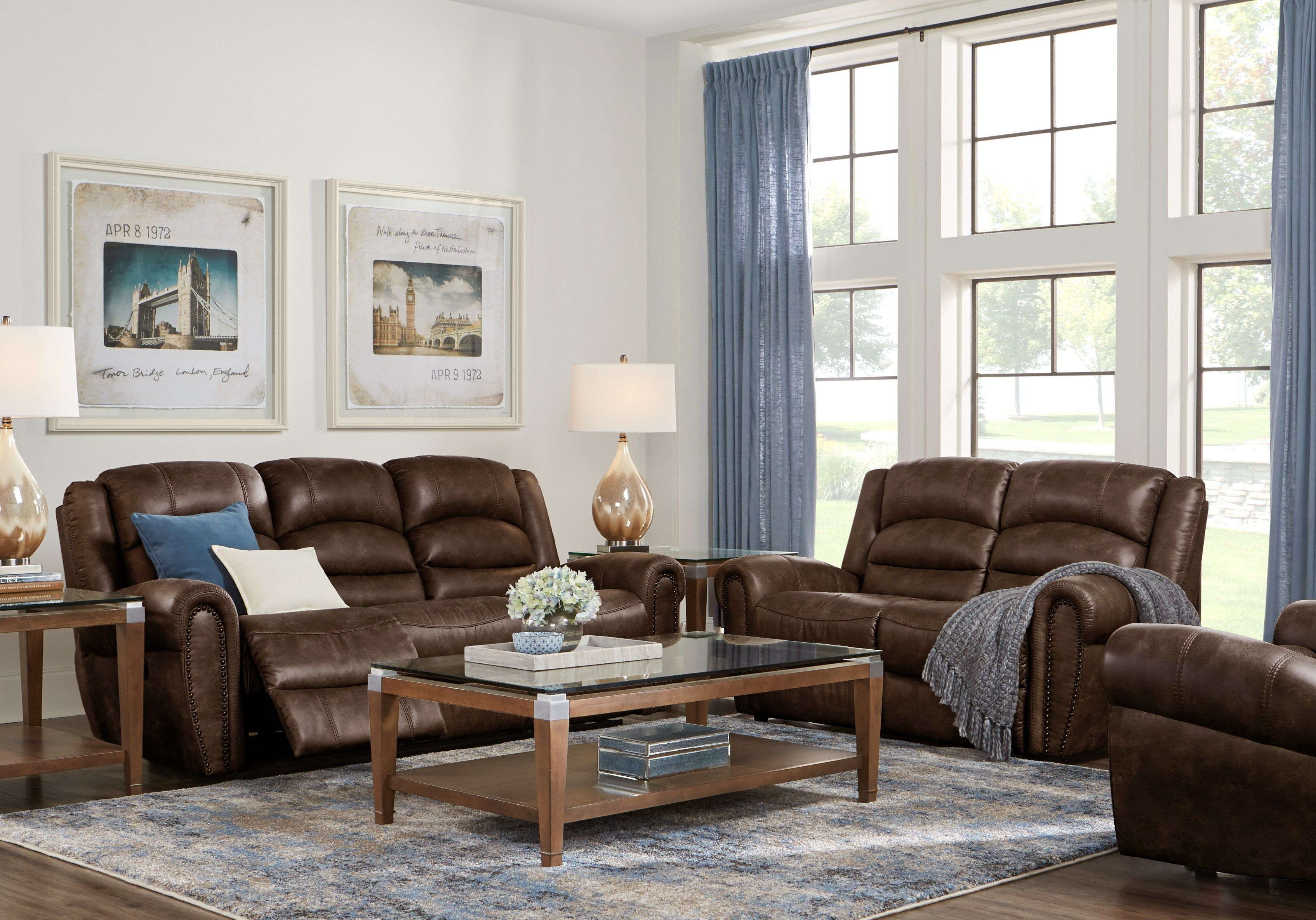 Pleasing Morristown Brown 5 Pc Living Room With Reclining Sofa In Onthecornerstone Fun Painted Chair Ideas Images Onthecornerstoneorg