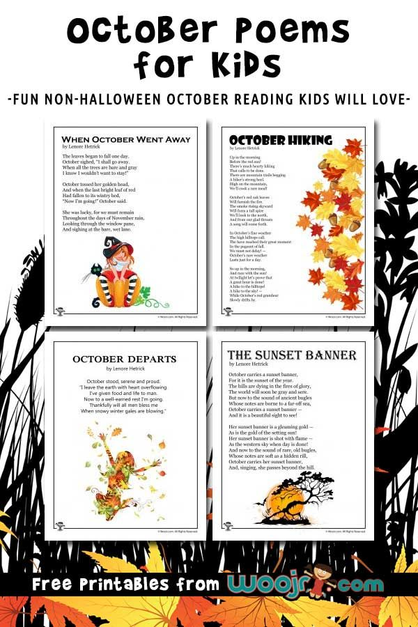 October Kids Poems to Read | Woo! Jr. Kids Activities