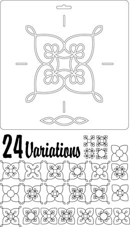 double wedding ring quilting stencils heartland hearts - Double Wedding Ring Quilt Templates