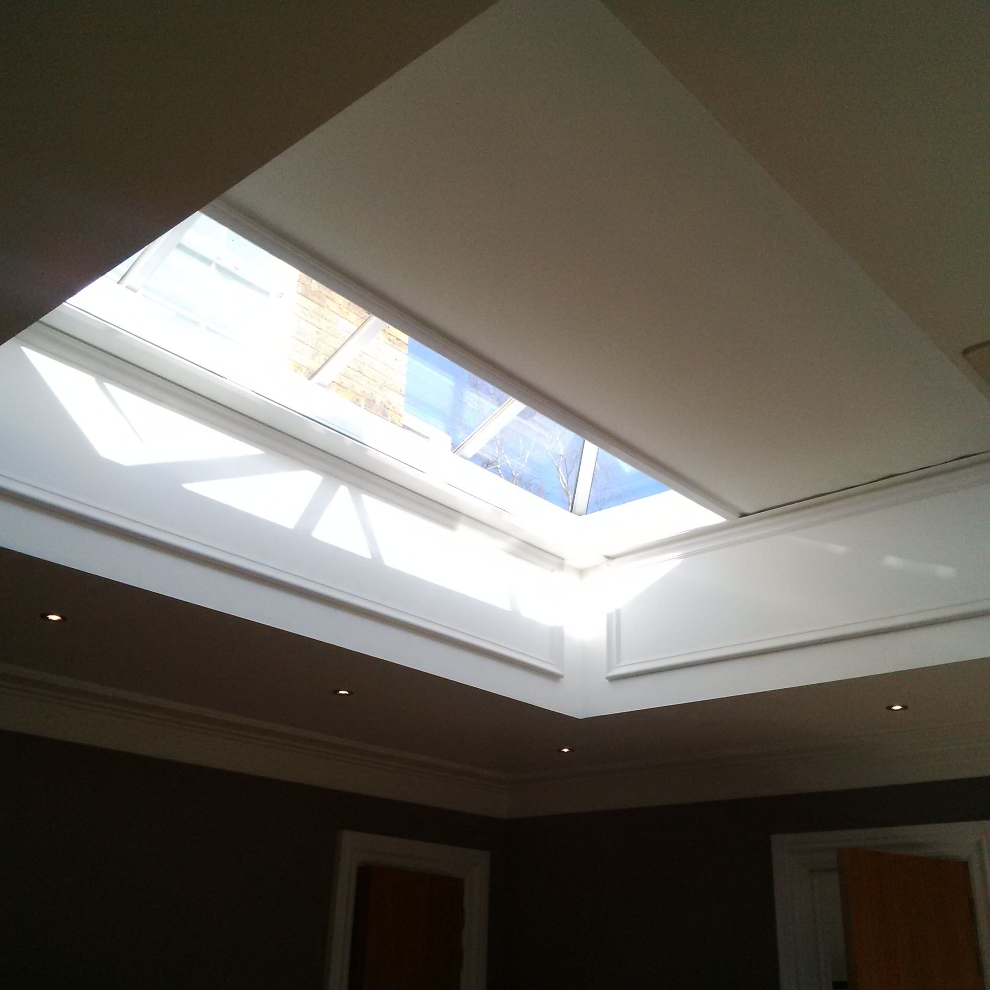 Shy Zip Electric Blind For Roof Lanterns Nearly Closed
