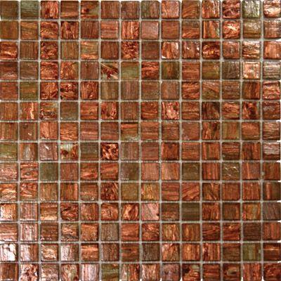 Light Copper Iridescent Glass Mosaic Backsplash Glass Mosaic