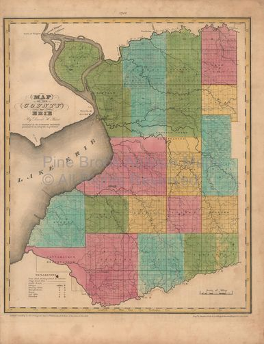Erie County New York Antique Map Burr New York State Antique - Old state maps for sale