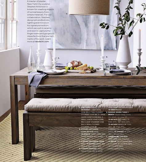 West Elm Boerum Dining Table And Bench