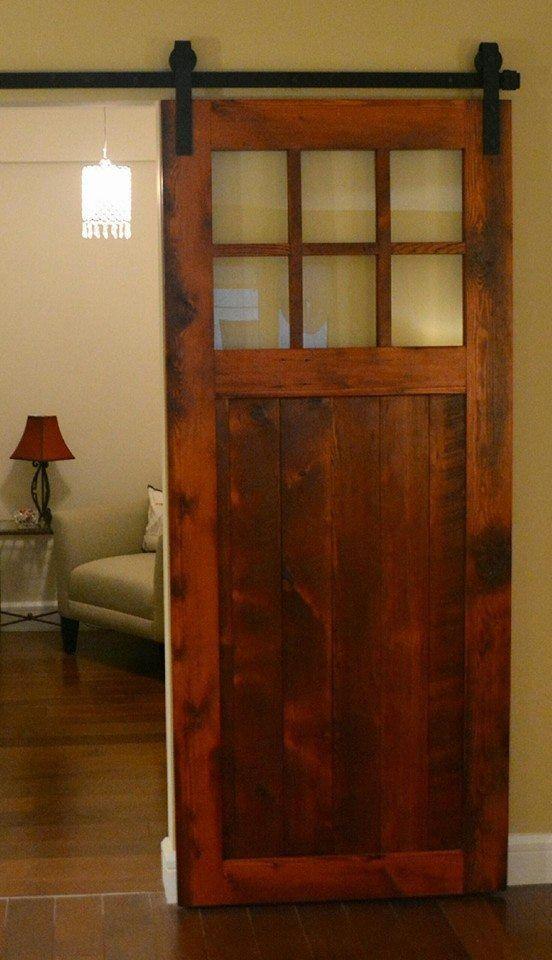 AMISH BUILT HANDMADE UNFINISHED RECLAIMED BARN WOOD CUSTOM INTERIOR BARN  DOOR #AmishBuilt