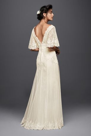 Designed with the free,spirited bride in mind, this lace A