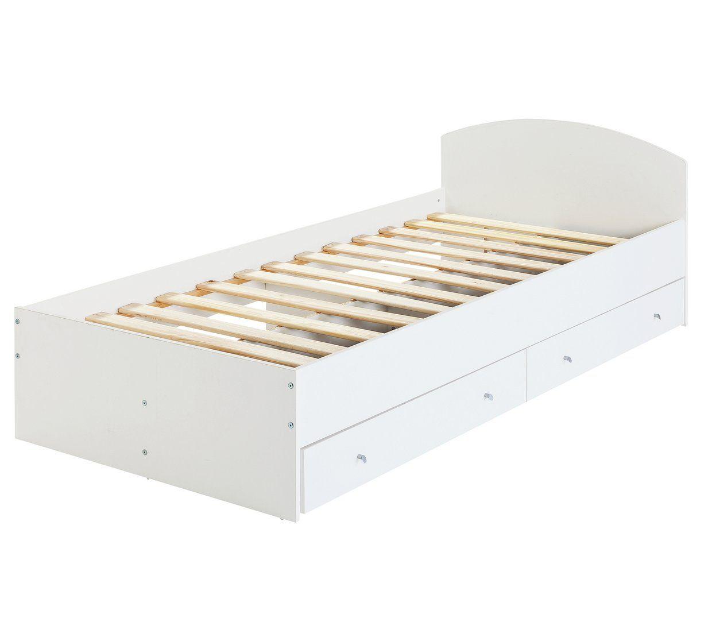 f7b0310859c0 Argos Home Malibu Single Bed Frame With 2 Drawers White Kids. Argos Home  Freja Double Bed Frame Grey