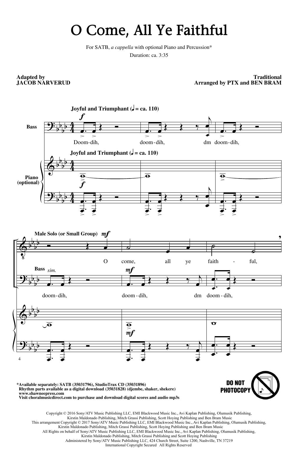 Jacob Narverud 'O Come, All Ye Faithful' Sheet Music, Notes & Chords