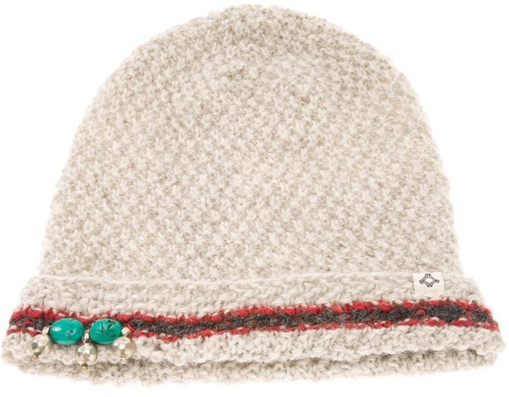 BSbee bead embellished beanie hat on shopstyle.com
