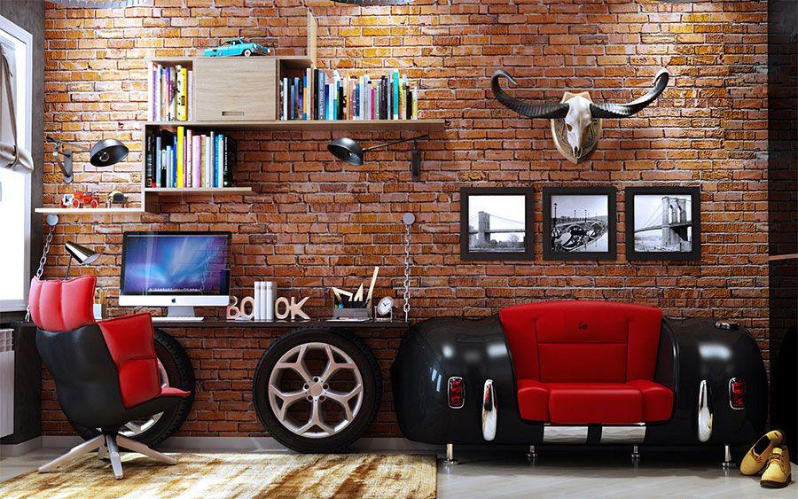 Scrivanie e porta pc | conforama: Scrivanie Per Camerette 35 Idee Originali Per L Angolo Studio Dei Bambini Mondodesign It Interior Design Per Appartamenti Interno Appartamento Progettazione Sala Studio