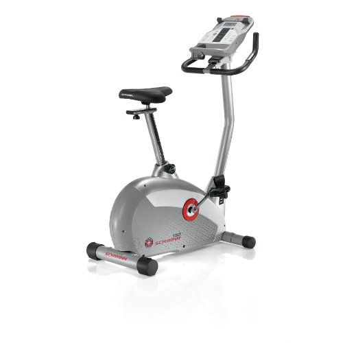 $299.99 Schwinn Upright Bikes offer a compact design and the feel of a more traditional outdoor bike while relying on core, stabilizing muscles to balance your body weight. Look to the Schwinn 150 for comfort, value and versatility. Features include a 20-pound flywheel, 16 resistance levels, 18 programs, speakers and MP3 music input port, and both telemetry and contact heart rate monitoring...