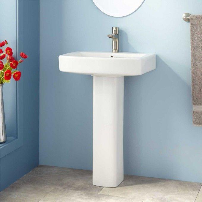Medeski Porcelain Pedestal Sink Pedestal Sinks Bathroom Sinks