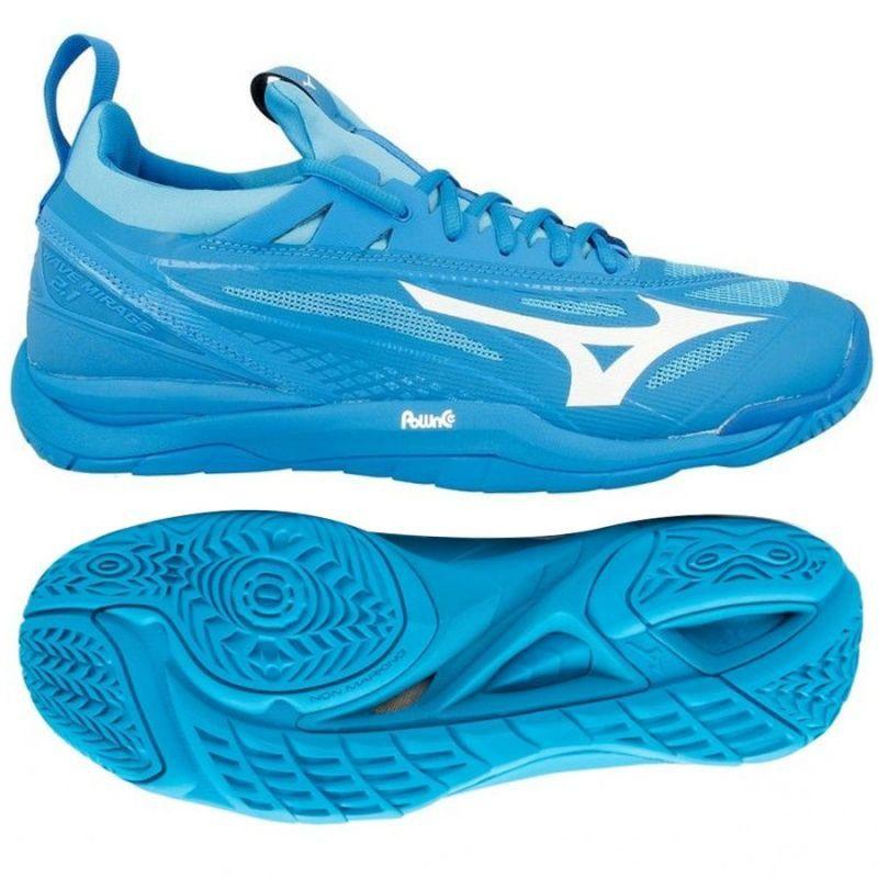 Buty Do Pilki Recznej Mizuno Wave Mirage 2 1 M X1ga185098 Niebieskie Niebieskie Mizuno Shoes Mizuno Volleyball Mizuno